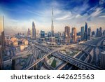 dubai skyline with beautiful... | Shutterstock . vector #442625563
