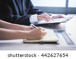 business adviser analyzing... | Shutterstock . vector #442627654