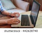 hands multitasking man working... | Shutterstock . vector #442628740