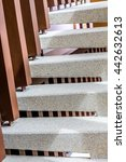 washed gravel stone staircase... | Shutterstock . vector #442632613