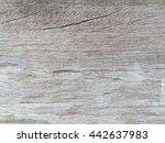 old gray wooden crack wall... | Shutterstock . vector #442637983