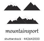 mountain icons set on white...   Shutterstock .eps vector #442642033