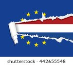 flag of the netherlands under...   Shutterstock .eps vector #442655548