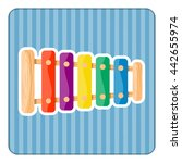 xylophone colorful icon. vector ... | Shutterstock .eps vector #442655974