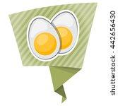 vector icon sliced boiled egg... | Shutterstock .eps vector #442656430