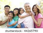 portrait of extended family... | Shutterstock . vector #44265790