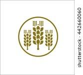 elegant gold rice  logo | Shutterstock .eps vector #442660060
