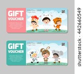 gift voucher template and... | Shutterstock .eps vector #442660549