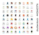 Stock vector mind icons set isolated on white background vector illustration graphic design 442662376