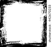 grunge black ink border frame... | Shutterstock .eps vector #442670233