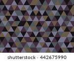 colorful geometric triangle... | Shutterstock .eps vector #442675990