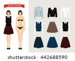 paper doll with formal clothes... | Shutterstock .eps vector #442688590
