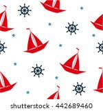 seamless sea pattern with...