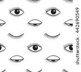 vector seamless pattern.... | Shutterstock .eps vector #442690549