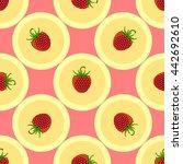 strawberry seamless. fruit... | Shutterstock .eps vector #442692610