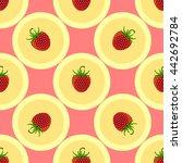 strawberry seamless. fruit... | Shutterstock .eps vector #442692784