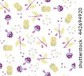 vector forest design. seamless... | Shutterstock .eps vector #442694920