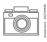 photographic camera icon | Shutterstock .eps vector #442704940