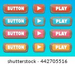 play buttons and icons for game ...