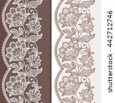 seamless  lace  floral  ... | Shutterstock .eps vector #442712746