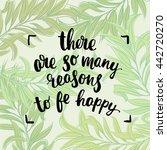trendy lettering poster. hand... | Shutterstock .eps vector #442720270