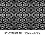 black and white ornament. i  | Shutterstock . vector #442722799