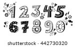 Black And White Set Of Digits...