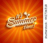 vector design of summer... | Shutterstock .eps vector #442736518