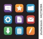 digital flat design icons set....