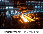 the production process in the...   Shutterstock . vector #442742170