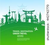 world travel  green concept... | Shutterstock .eps vector #442742770
