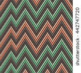 faux tribal chevron fabric... | Shutterstock .eps vector #442747720