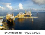 offshore oil   gas petroleum... | Shutterstock . vector #442763428