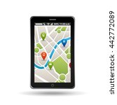 gps service design  | Shutterstock .eps vector #442772089