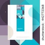 brochure cover template. book... | Shutterstock .eps vector #442772368