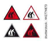 warning caution traffic sign... | Shutterstock .eps vector #442774873