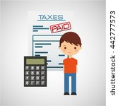 tax time design  | Shutterstock .eps vector #442777573