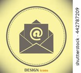 email icon   Shutterstock .eps vector #442787209