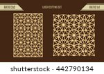 diy laser cutting set. woodcut... | Shutterstock .eps vector #442790134