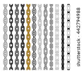set of different type chains.... | Shutterstock .eps vector #442794988