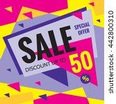 sale vector banner   discount... | Shutterstock .eps vector #442800310
