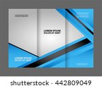 tri fold brochure design and... | Shutterstock .eps vector #442809049