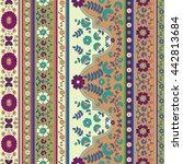 folk vector border design | Shutterstock .eps vector #442813684