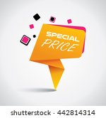 special price bubble with... | Shutterstock .eps vector #442814314