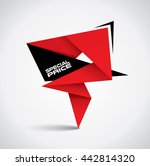special price bubble   origami... | Shutterstock .eps vector #442814320