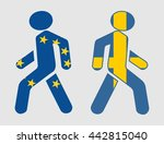 sweden exit from europe... | Shutterstock .eps vector #442815040
