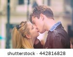 couple enjoying outdoors in a... | Shutterstock . vector #442816828