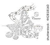 cancer zodiac sign as a...   Shutterstock .eps vector #442818160