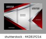 three fold business brochure... | Shutterstock .eps vector #442819216