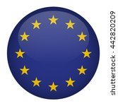 european union flag button | Shutterstock .eps vector #442820209
